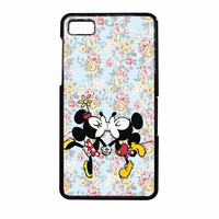 Mickey Kiss Minnie Disney Flowers BlackBerry Z10 Case