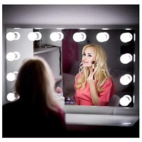 HuaXinV Hollywood Style LED Vanity Mirror Lights Kit Lighting Fixture Strip for Makeup Vanity Table Set in Dressing Room
