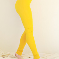 Leggings - Hand Dyed Leggings in Stretch Cotton Knit - Extra Long Leggings - Tights - Fall Weather Tights - Sizes XS, S, M, L, XL
