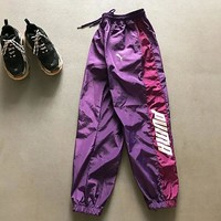 PUMA stitching sports pants PUMA thin breathable casual slacks windproof waterproof slacks for lovers and couples