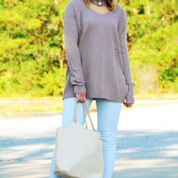 Pure Perfection Sweater: Mauve