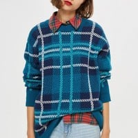 Oversized Check Jumper | Topshop