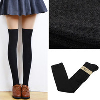 Fashion Women's Cotton Sexy Thigh High Over The Knee Socks Long Cotton Stockings For Girls Ladies Women
