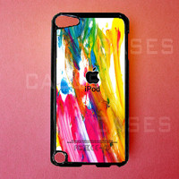 Ipod Touch 5 Case   Colorful Paint Ipod Touch 5 by DzinerCases