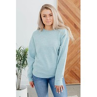 Always Sweet Pullover-Marled Smoky Blue