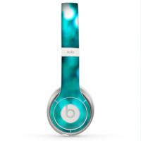 The Unfocused Subtle Blue Sparkle Skin for the Beats by Dre Solo 2 Headphones