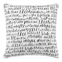 kate spade new york This Is The Life Square Throw Pillow in White/Black