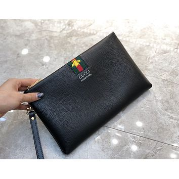 fashion Woman Men Envelope Clutch Bag Leather File Bag Tote Handbag