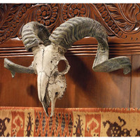 Corsican Ram Skull And Horns Plaque