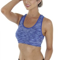 Abstract Sports Bra Blue