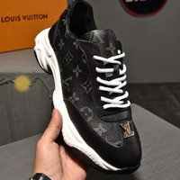 LV  Men Casual Shoes Boots  fashionable casual leather