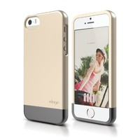 iPhone SE, elago Glide Case for iPhone SE/5/5S - eco friendly Retail Packaging (Champagne Gold / Metallic Dark Gray)