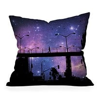 Shannon Clark Night Walk Throw Pillow