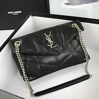 YSL SAINT LAURENT WOMEN'S CLASSIC LEATHER CHAIN SHOULDER BAG