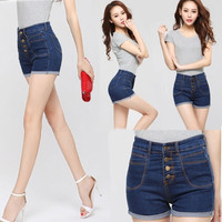 Women Ladies Sexy High Waist Jeans Hot Pants Denim Shorts Short = 1930004548