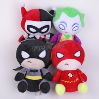 "DC Comics The Flash Batman Harley Quinn The Joker Plush Toys Soft Stuffed Dolls 8"" 20cm"