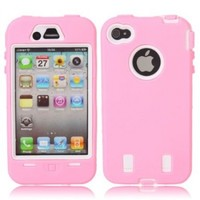 Full Protective Hard Case White Background for iPhone 4/4S Pink:Amazon:Cell Phones & Accessories