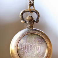 Gypsy Soul Pocket Watch Necklace
