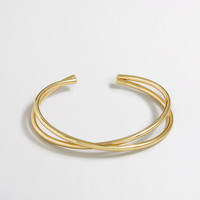 Factory golden crisscross cuff bracelet