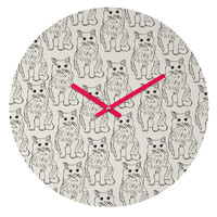 Allyson Johnson Cat Obsession Round Clock