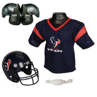 Houston Texans Youth NFL Helmet and Jersey SET with Shoulder Pads
