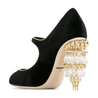Dolce & Gabbana Chandelier Heel Mary Jane Pumps - Stefania Mode - Farfetch.com