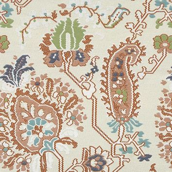 Robert Allen Fabric 240716 Aztec Flowers Coral Reef