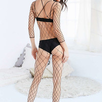 Out From Under Fishnet Catsuit - Urban Outfitters