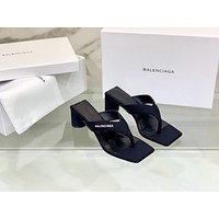 Balenciaga Women Casual Shoes Boots fashionable casual leather Women Heels Sandal Shoes