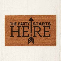 4040 Locust Party Started Door Mat