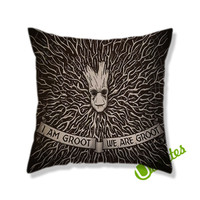 I Am Groot We Are Groot Square Pillow Cover