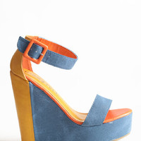 Stomping Grounds Colorblocked Wedges - $33.50 : ThreadSence, Women's Indie & Bohemian Clothing, Dresses, & Accessories