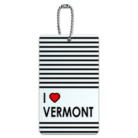 I Love Heart Vermont ID Card Luggage Tag