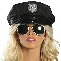 Sexy Cop Police Girl Glasses Halloween Accessory