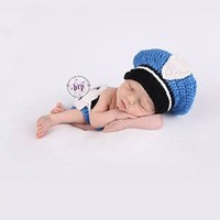 Police Officer Knit Hat Outfit Photo Prop - CCA79 CLOSEOUT