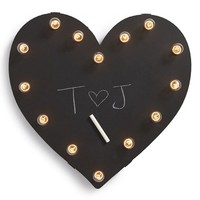 Universal Ironworks 'Marquee Lights - Chalkboard Heart' Recycled Metal Sign