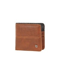 River Island MensBrown and herringbone wallet