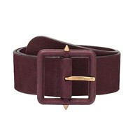 Gucci Carminio Red Wide Suede Belt with Studs 303868 5033