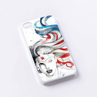face wonder woman iPhone 4/4S, 5/5S, 5C,6,6plus,and Samsung s3,s4,s5,s6