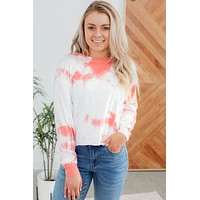 Next Level Tie Dye Top-Coral