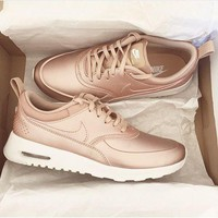 Nike Air Max Fashion Women Casual Classic Sports Shoes Sneakers (Rose Gold) I