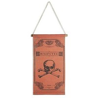 Haunted Skull and Bones Scroll Hanging Decoration