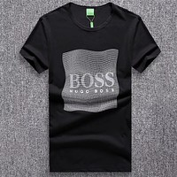 Hugo Boss Woman Men Fashion Casual Letter Shirt Top Tee
