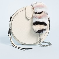 Mini Canteen Bag with Multi Fur Strap