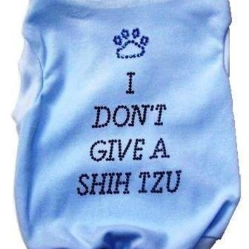 I Dont Give a Shih Tzu Dog Tank in Pink or Blue for the ShihTzu with an Attitude