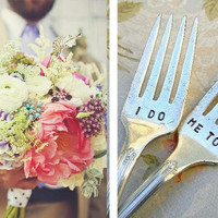 I Do Me Too Vintage Wedding Fork Set Featured In by PrettyParis