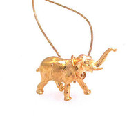 Kiel Mead: Elephant Necklace Gold-Plated, at 21% off!