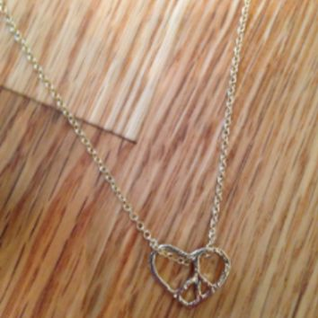 Peace heart charm necklace by KnitPopShop