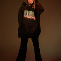 Black Infectious Oversized Hoodie