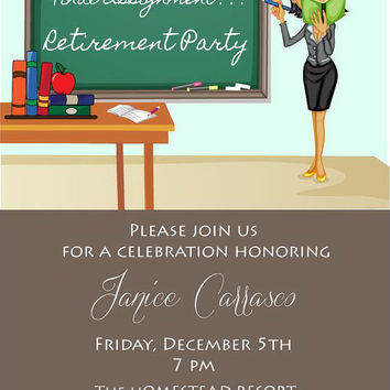 Teacher Retirement Invitation From